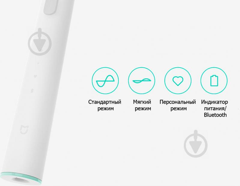Електрична зубна щітка Xiaomi MiJia Sound Electric Toothbrush White (DDYS01SKS) - фото 5