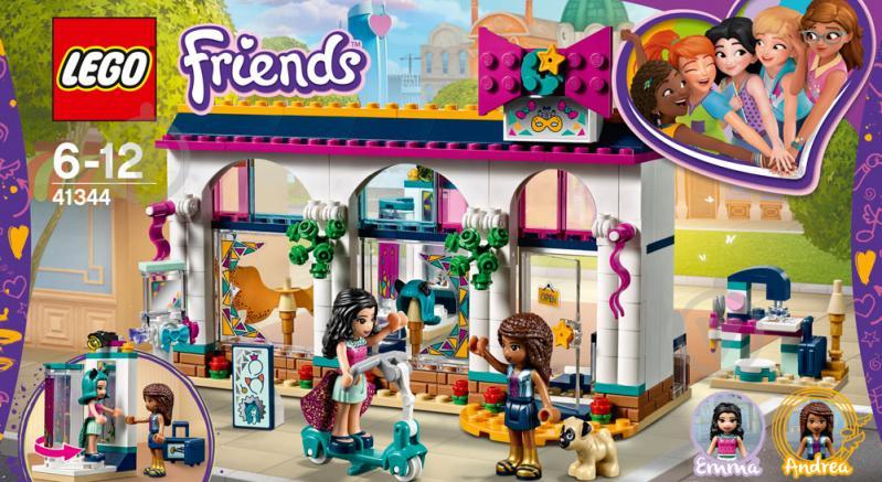 0abe67a84a9b5 Купить. Конструктор LEGO Friends Магазин аксессуаров Андреа 41344 - фото 1