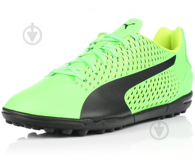 Футбольные бутсы Puma Adreno III TT 10404801 9.5 зеленый - фото 2
