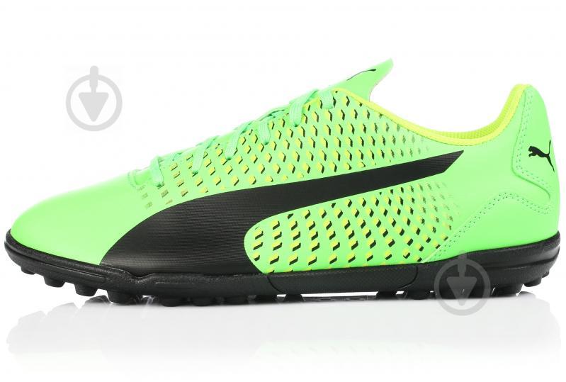 Футбольные бутсы Puma Adreno III TT 10404801 9.5 зеленый - фото 1