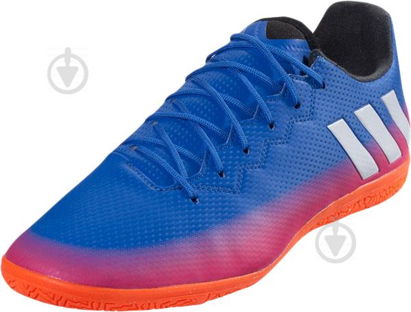 Футбольные бутсы Adidas MESSI 16.3 IN BA9018 р. 44,5 сине-розовый - фото 2