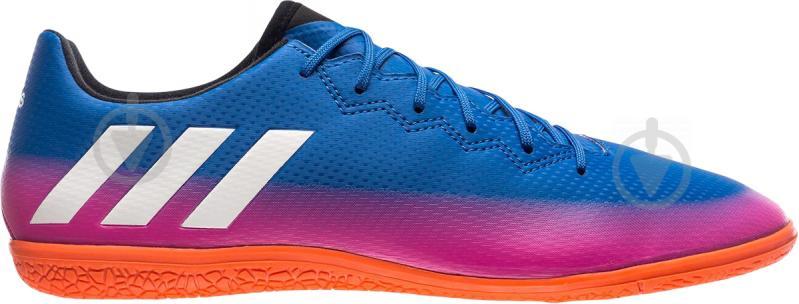 Футбольные бутсы Adidas MESSI 16.3 IN BA9018 р. 44,5 сине-розовый - фото 1