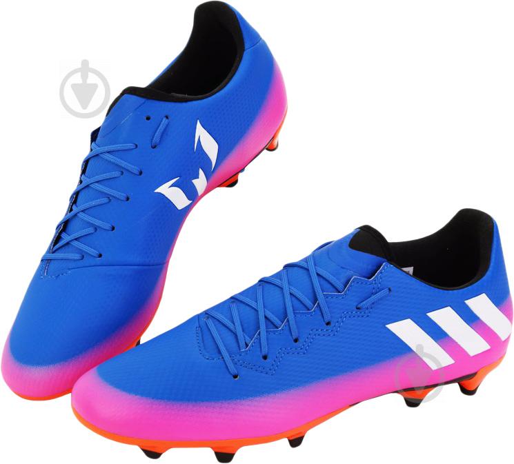 Футбольные бутсы Adidas MESSI 16.3 FG BA9021 р. 10 сине-розовый - фото 3