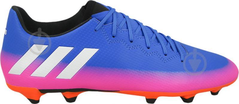 Футбольные бутсы Adidas MESSI 16.3 FG BA9021 р. 10 сине-розовый - фото 2