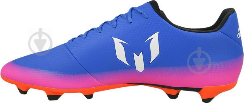 Футбольные бутсы Adidas MESSI 16.3 FG BA9021 р. 10 сине-розовый - фото 1