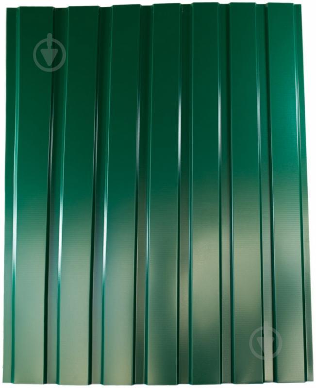 Профнастил глянцевий PSM ПР-15А 1155x2500 мм RAL 6005 зелений - фото 1