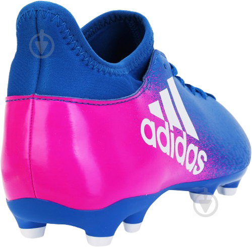 Футбольные бутсы Adidas X 16.3 FG Firm Ground Cleats BB5641 р. 8.5 сине-розовый - фото 3