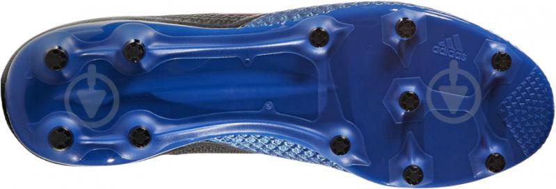 Футбольные бутсы Adidas ACE 17.3 PRIMEMESH FG BA8505 р. 10.5 черно-синий - фото 5