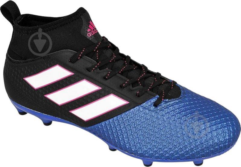 Футбольные бутсы Adidas ACE 17.3 PRIMEMESH FG BA8505 р. 10.5 черно-синий - фото 2