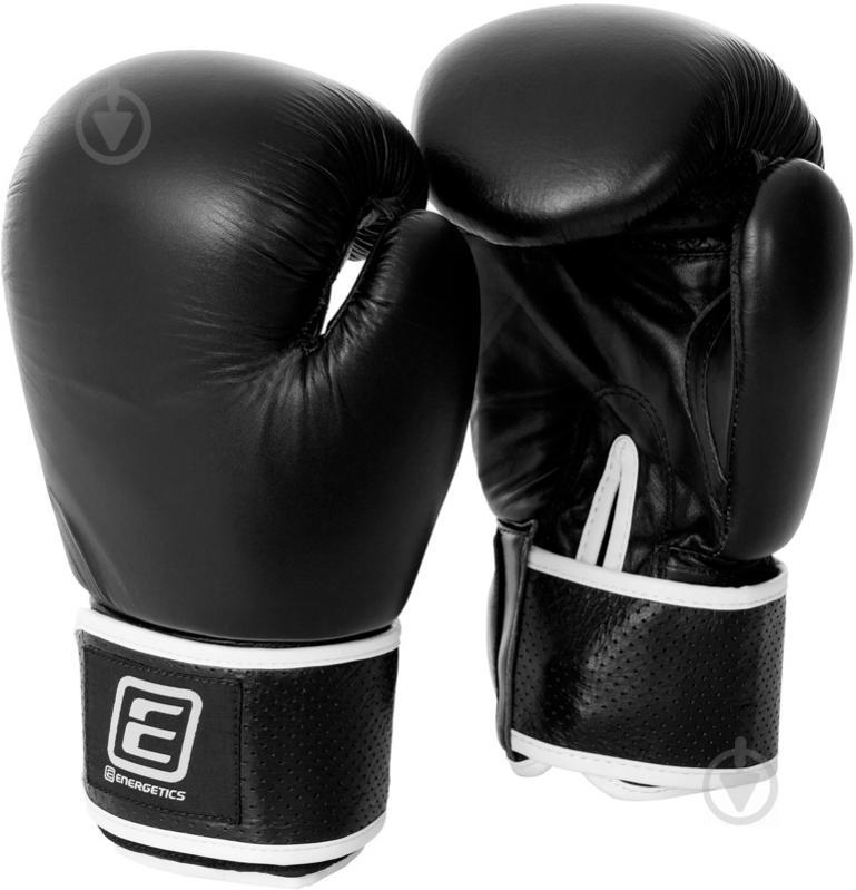 Боксерские перчатки Energetics 12oz Leather 225543 черный - фото 1