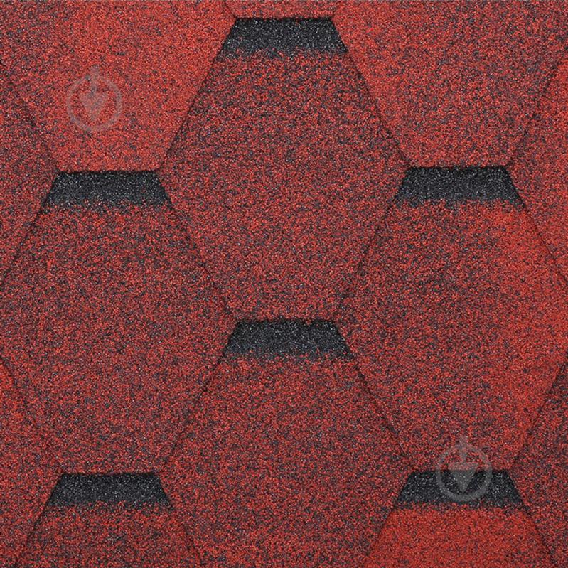 Бітумна черепиця  RoofOK Сота червона 3 кв.м - фото 1