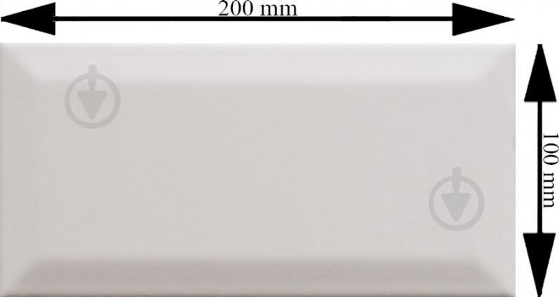 Плитка Golden Tile Metrotiles белый сатин 460161 10x20 - фото 3