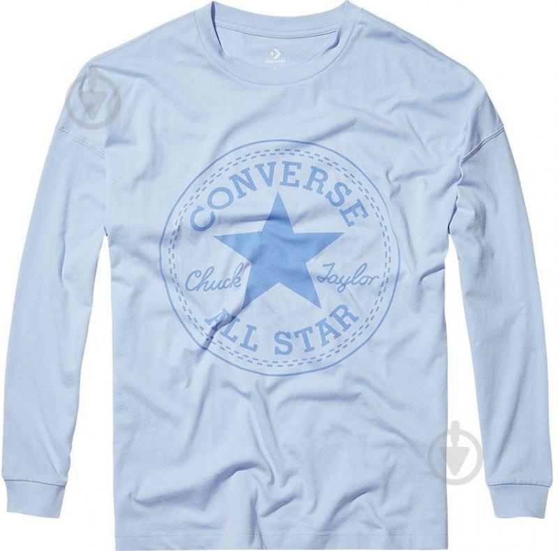 Футболка Converse Core CP Long Sleeve Tee р. S голубой 10004569-457 - фото 1