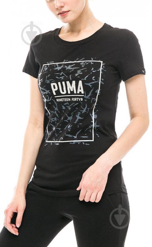 Футболка Puma FUSION Graphic Tee р. M черный 85010701 - фото 1