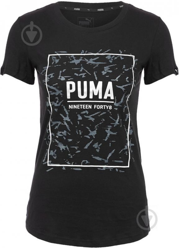 Футболка Puma FUSION Graphic Tee р. M черный 85010701 - фото 3