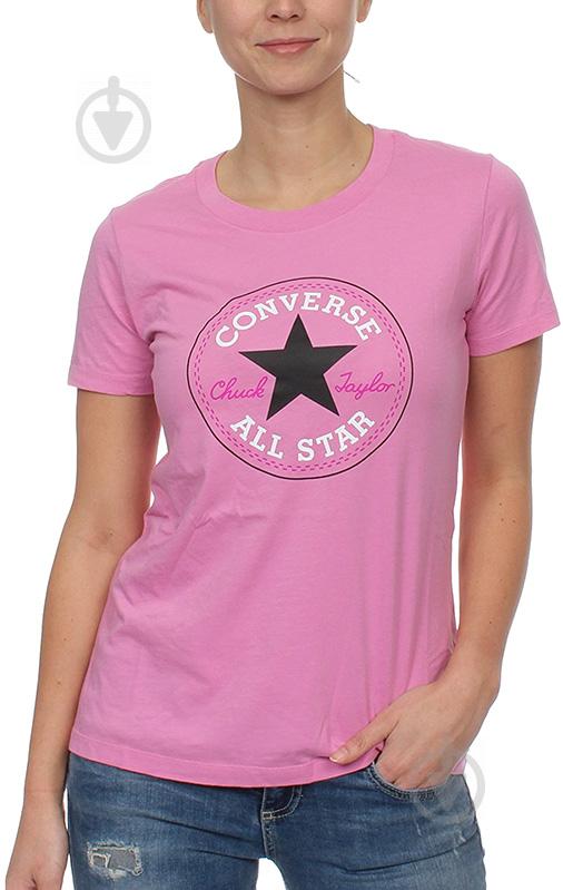 Футболка Converse CORE SOLID CHUCK PATCH CREW 10001124-523 XS розовый - фото 1