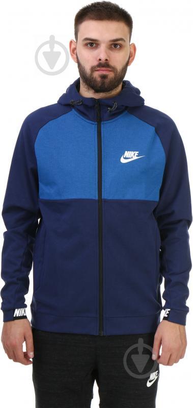 Худі Nike M NSW AV15 Hoodie FZ FLC AW1718 р. M синій 861742-429 - фото 1