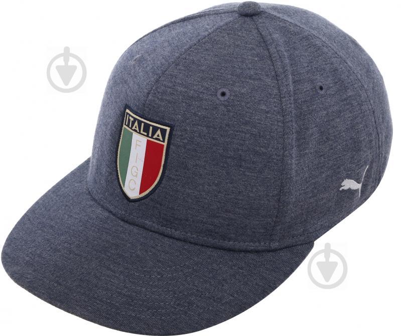 Бейсболка Puma FIGC Cap 2121201 OS сине-серый - фото 1