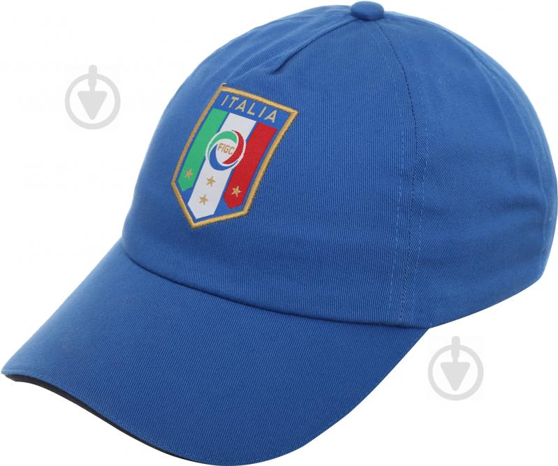 Бейсболка Puma Italia Team Training Cap 2101702 OS голубой - фото 1