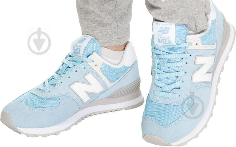 Кросівки New Balance WL574ESB р.7,5 блакитний - фото 5