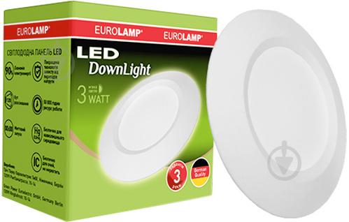Світильник точковий Eurolamp 2 шт./уп. 3 Вт 3000 К білий ЕПЦ-LED-DL-3/3 - фото 2
