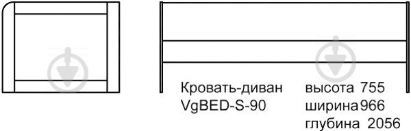 Ліжко-диван Aqua Rodos Voyage VgBed-S-90 90x200 см рожевий - фото 4