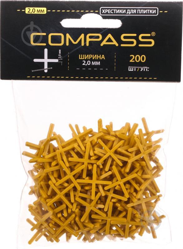 Хрестики дистанційні Compass 2 мм 200 шт./уп - фото 1