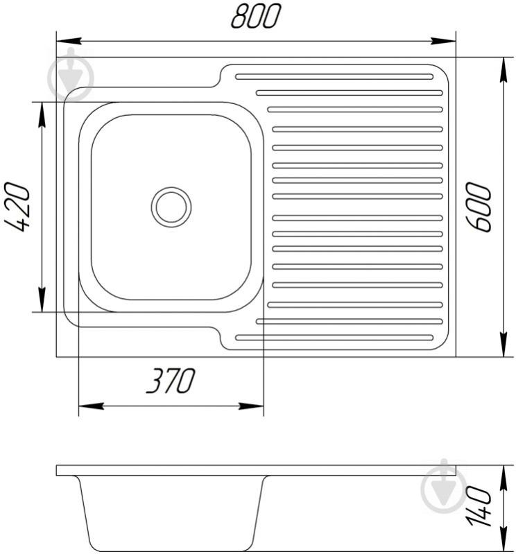 Мойка для кухни UP! (Underprice) z6804 U - фото 3