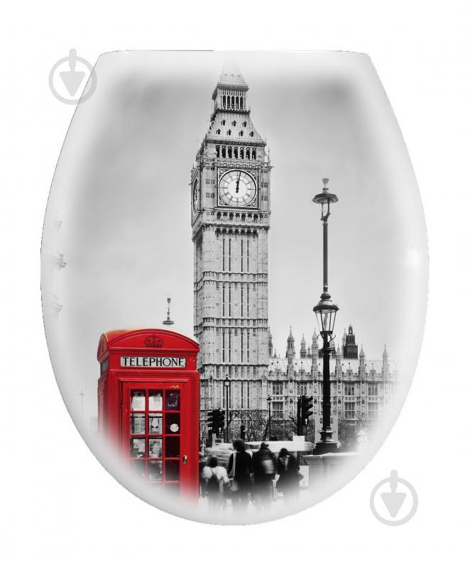 Сиденье для унитаза с крышкой London Red