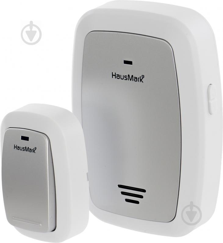 Звонок беспроводной HausMark белый с серебристым WSD-915-GY13 - фото 2