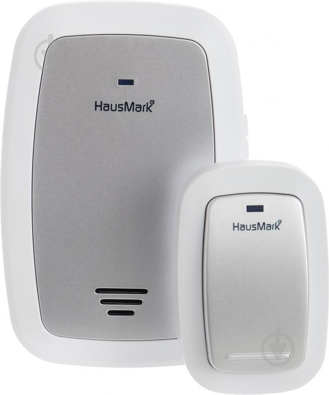 Звонок беспроводной HausMark белый с серебристым WSD-915-GY13 - фото 1