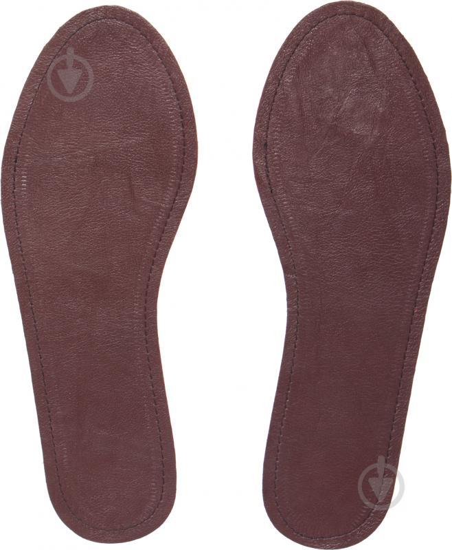 Устілки для взуття шкіра замш Роллі розмір 42-43 коричневий - фото 2 e9f648ef3a12d