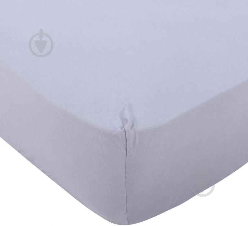 Простынь трикотажная 160x200 см серый Songer und Sohne - фото 1