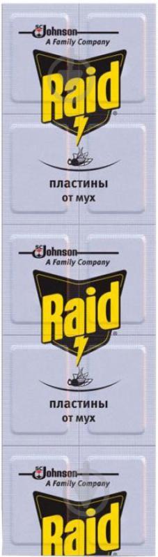 Пластини від мух Raid для фумігатора 10 шт. - фото 1