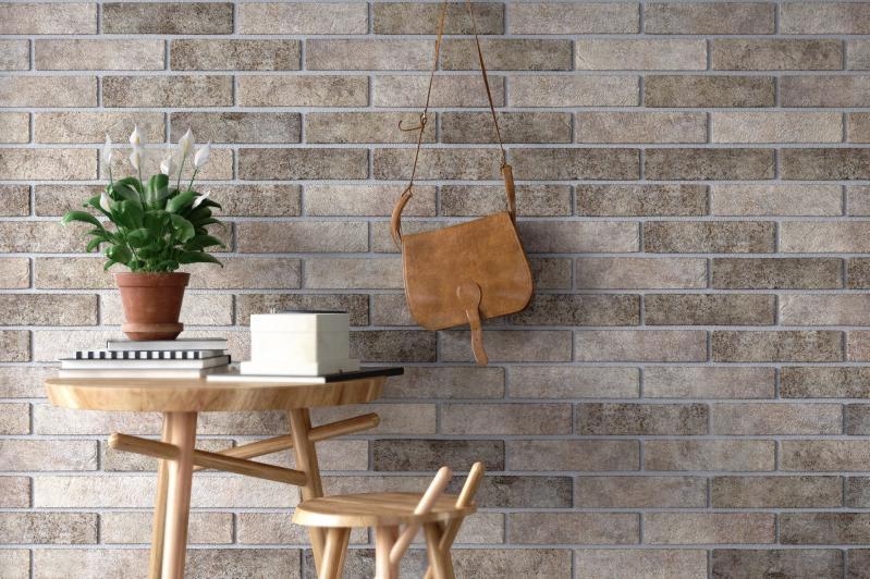 Плитка Golden Tile BrickStyle Seven tones сірий 342020 6x25 - фото 4