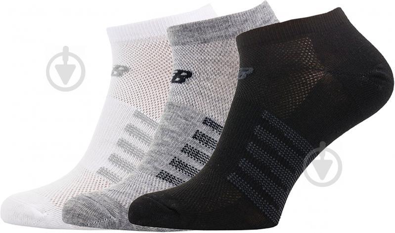 Носки New Balance черно-серо-белый - фото 1