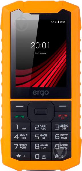 Мобільний телефон Ergo F245 Strength Dual Sim yellow/black - фото 1