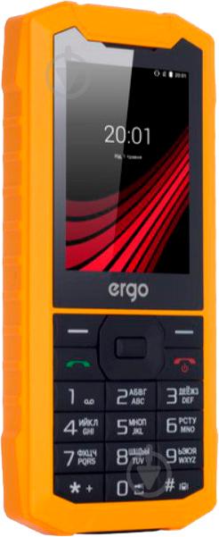 Мобільний телефон Ergo F245 Strength Dual Sim yellow/black - фото 2