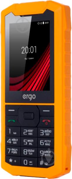 Мобільний телефон Ergo F245 Strength Dual Sim yellow/black - фото 3