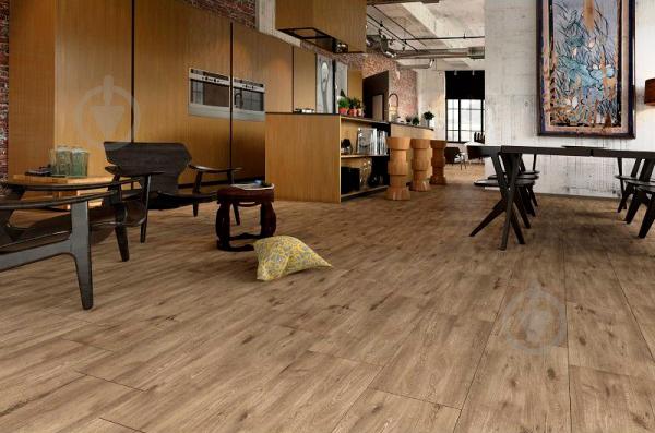 Плитка Golden Tile Alpina Wood коричневый 897940 30,7x60,7 - фото 1