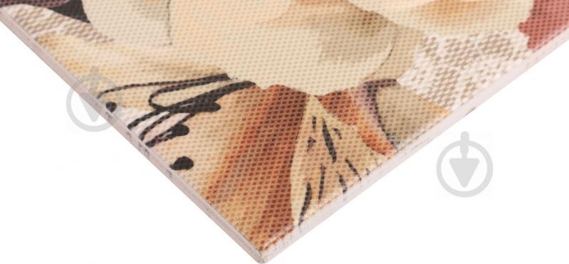 Плитка Golden Tile Gobelen Flower бежевый 701151 25x33 - фото 3