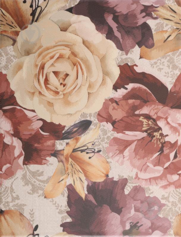 Плитка Golden Tile Gobelen Flower бежевый 701151 25x33 - фото 1