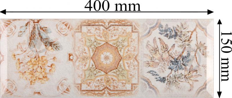 Плитка InterCerama Europe декор бежевий Д 127 021-3 15x40 - фото 5