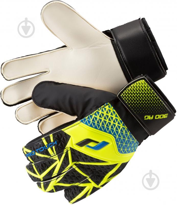 Вратарские перчатки Pro Touch Force 300 AG р. 7 черно-желтый - фото 1