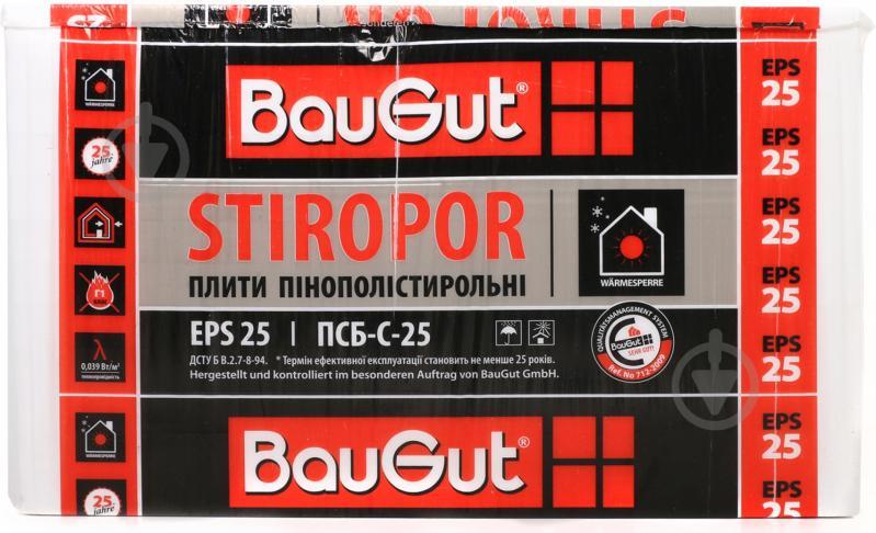 Пенопласт ПСБ-С-25 BauGut 1000x1000x100 мм - фото 2