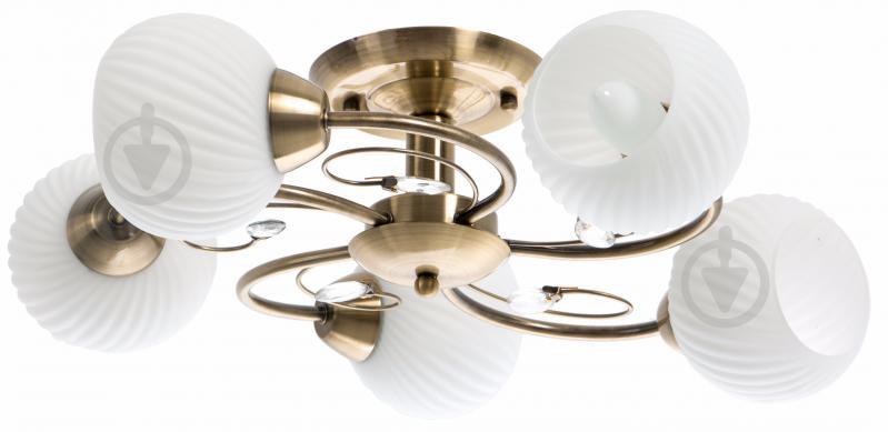 Люстра стельова Accento lighting VALENCIA 5x60 Вт E27 антична латунь ALDW-MX12846-5 - фото 1