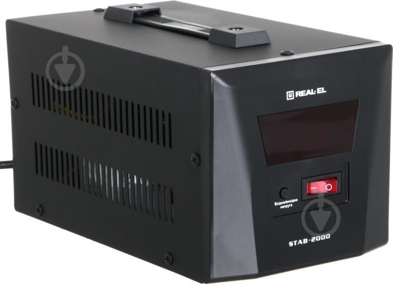 Стабілізатор напруги REAL-EL STAB-2000, black (REAL-EL) - фото 1