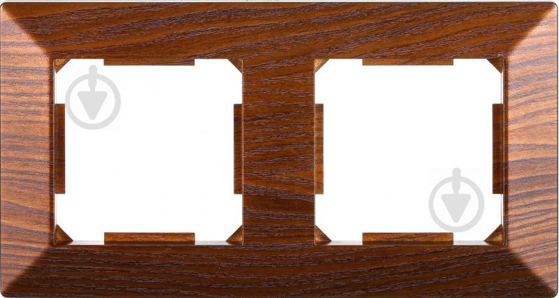 Рамка двухместная HausMark Alta горизонтальная дуб бронзовый SNG-FRP.SQ20G2-8/Oak-bronze - фото 1