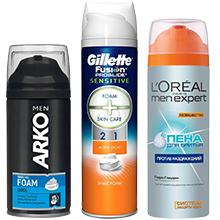 Піна та крем для гоління