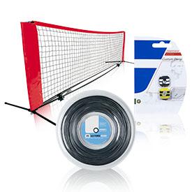 Аксесуари для великого тенісу і бадмінтону